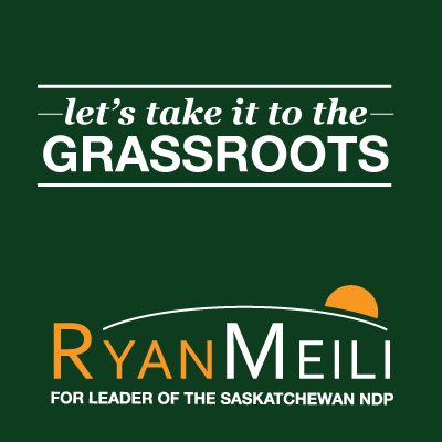 let's take it to the GRASSROOTS - Ryan Meili